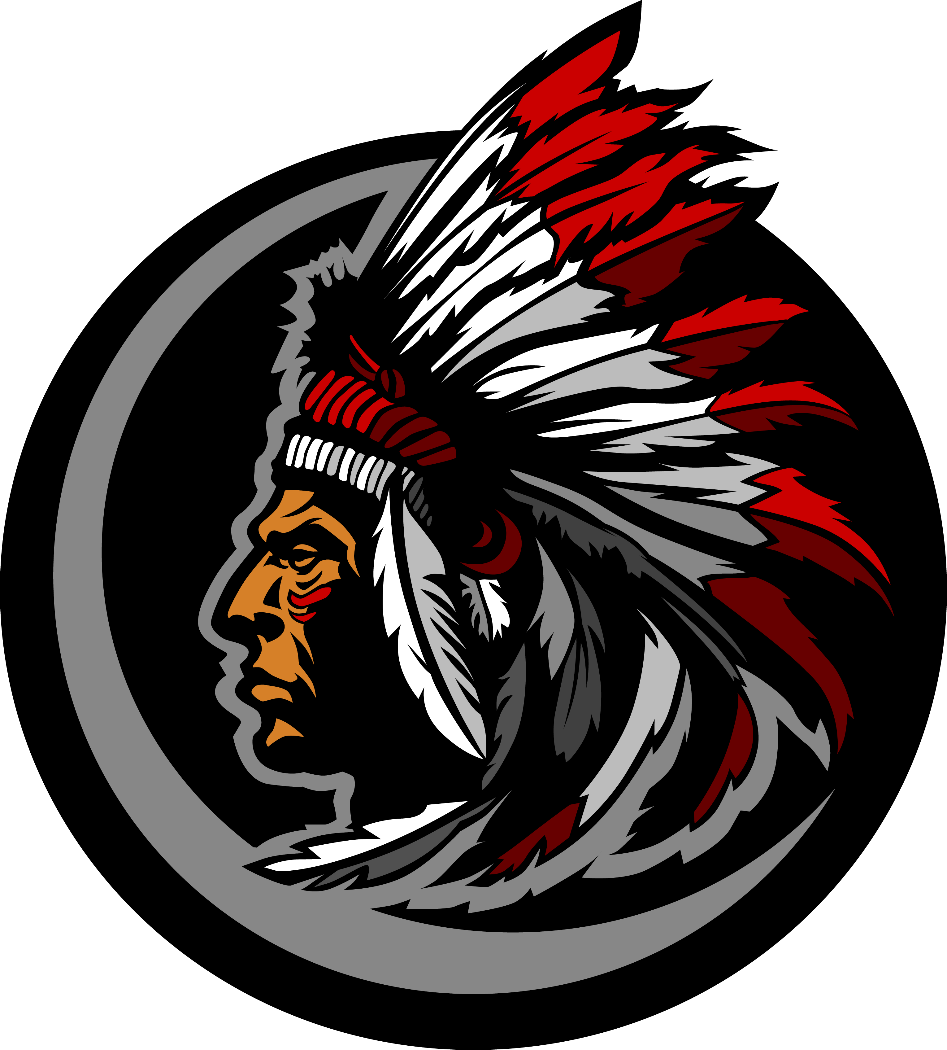 wyoming central school mascot of a native american chief